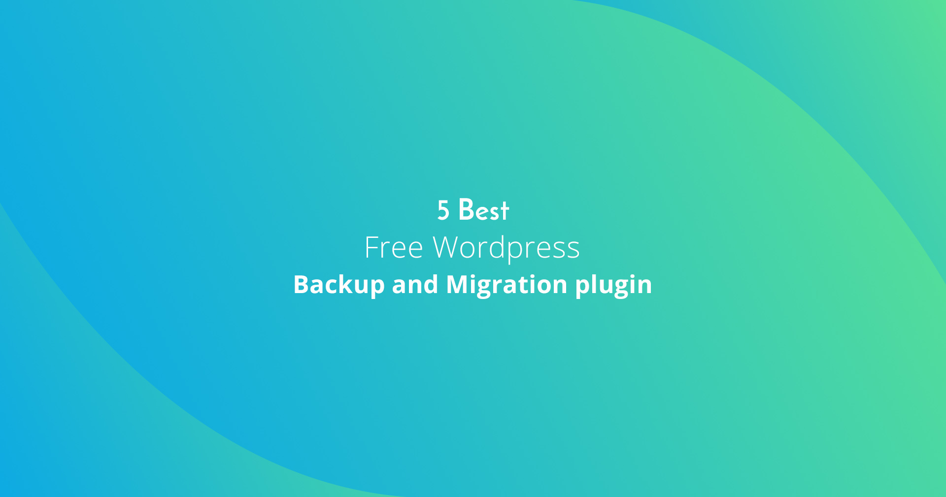 best backup and migration
