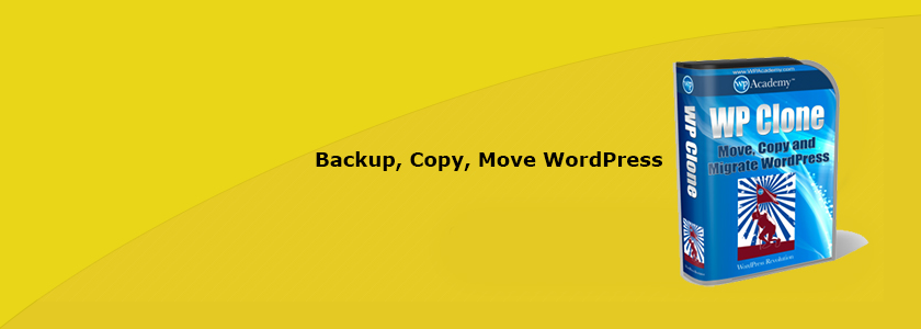 WP Clone Backup And Migrate WordPress