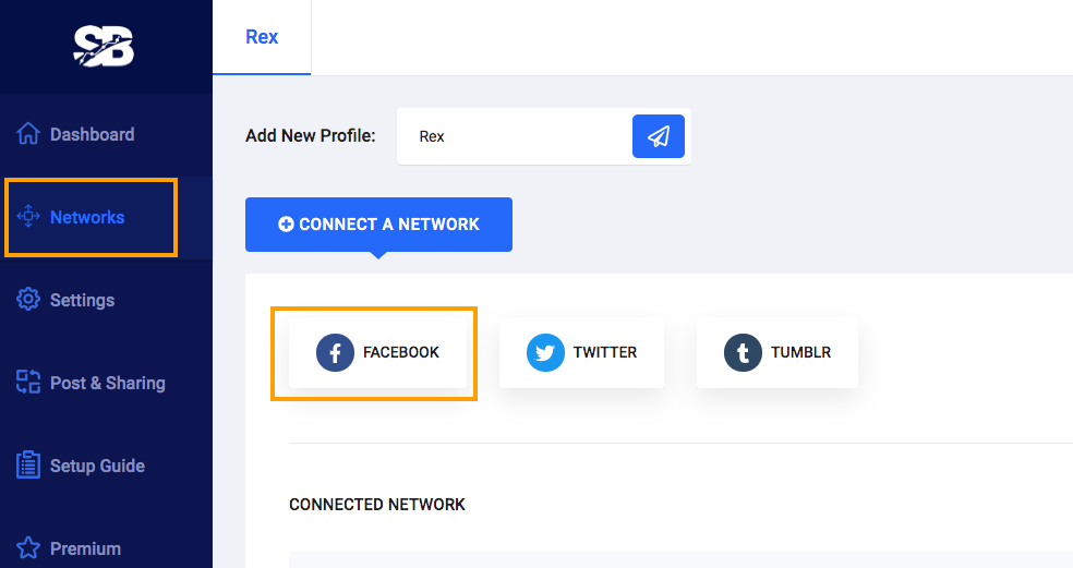Add Facebook Network