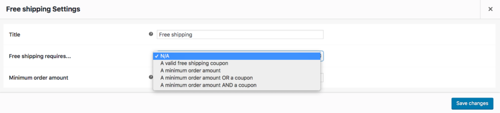 Free Shipping Conditions