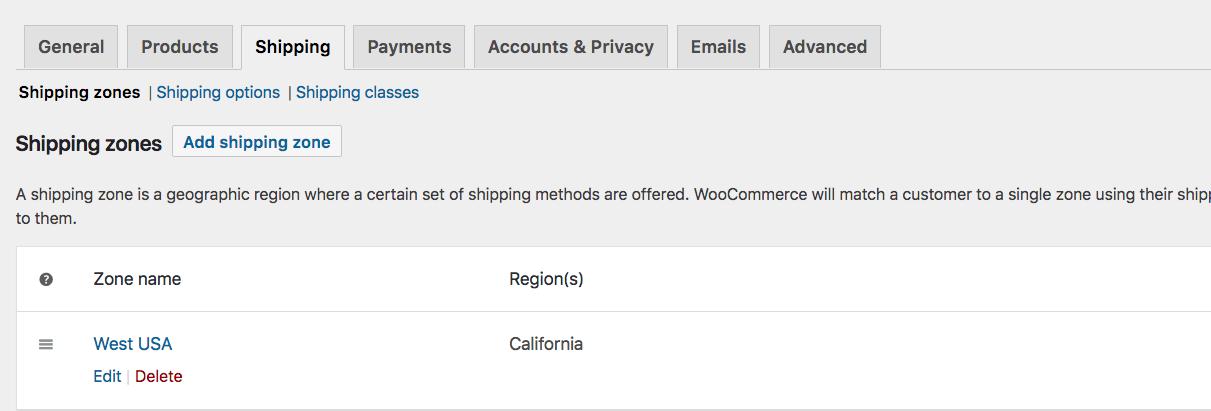Shipping Edit
