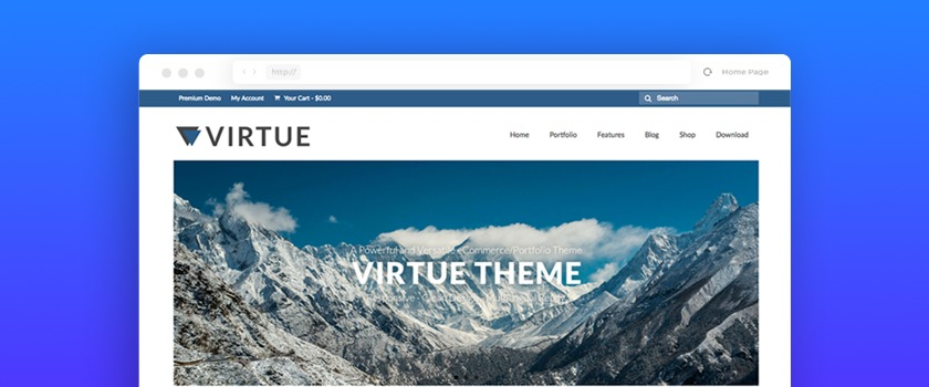 Virtue (#1 in 10 Best Free WooCommerce Themes)