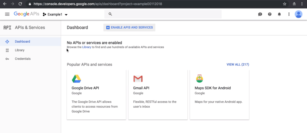 Google Developers Dashboard
