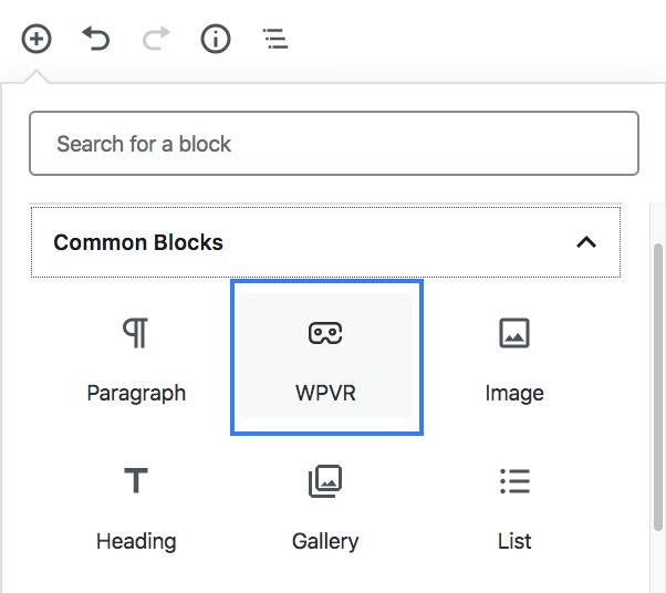 Gutenberg block WPVR