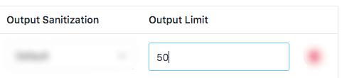 Output Limit