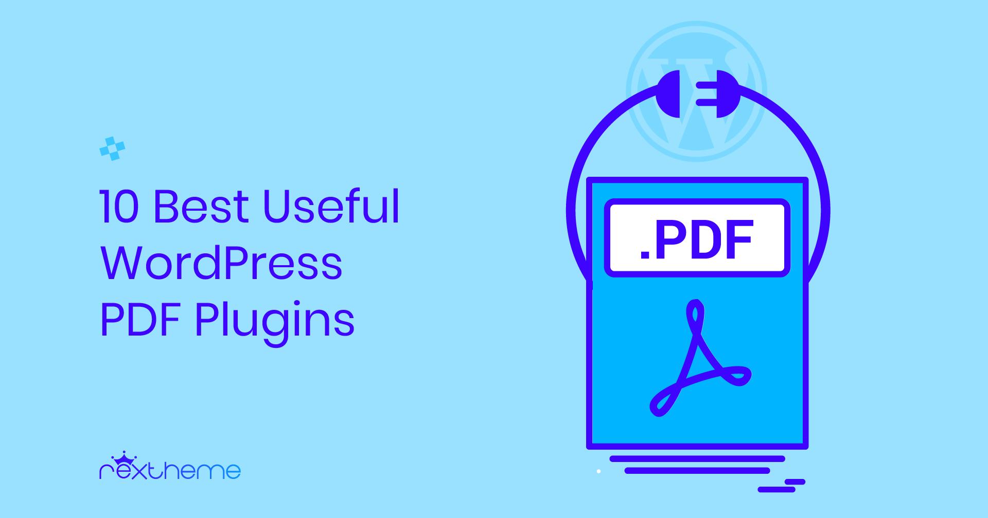 10 Best WordPress PDF Plugins
