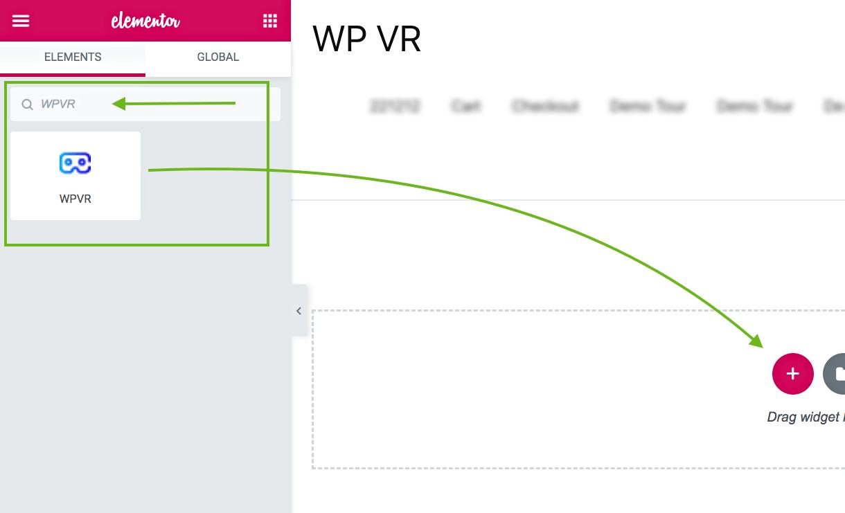WPVR Elementor Widget