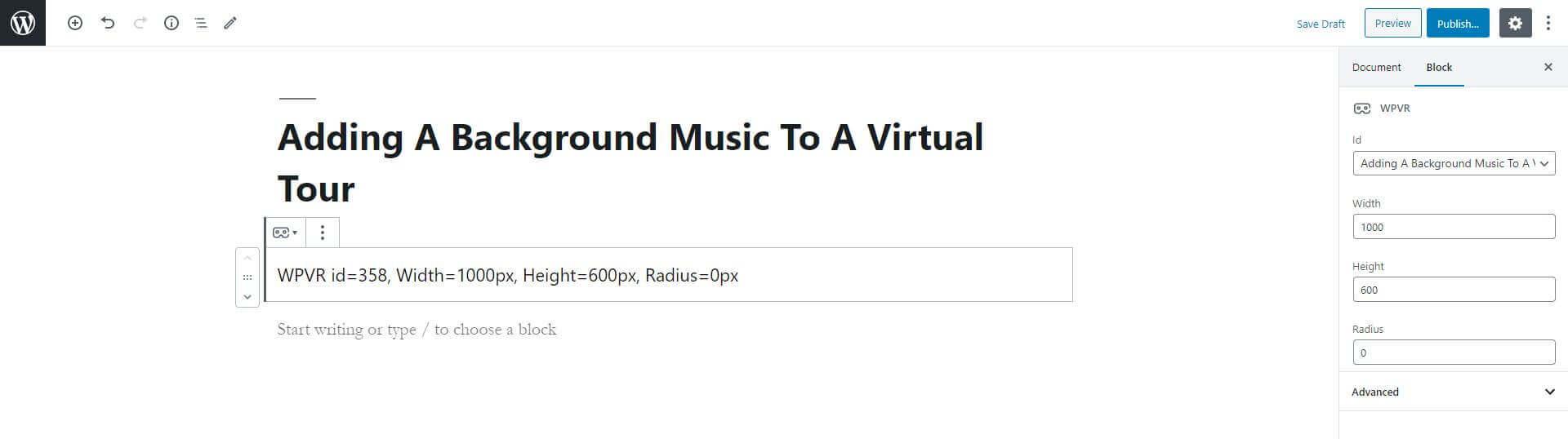 Embed Virtual Tour