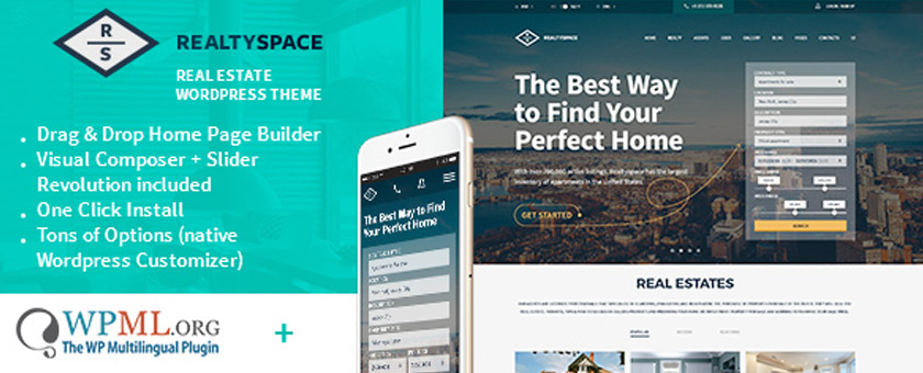 Realtyspace - Real Estate Theme