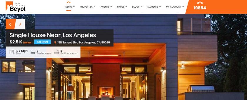 Beyot - WordPress Real Estate Themes