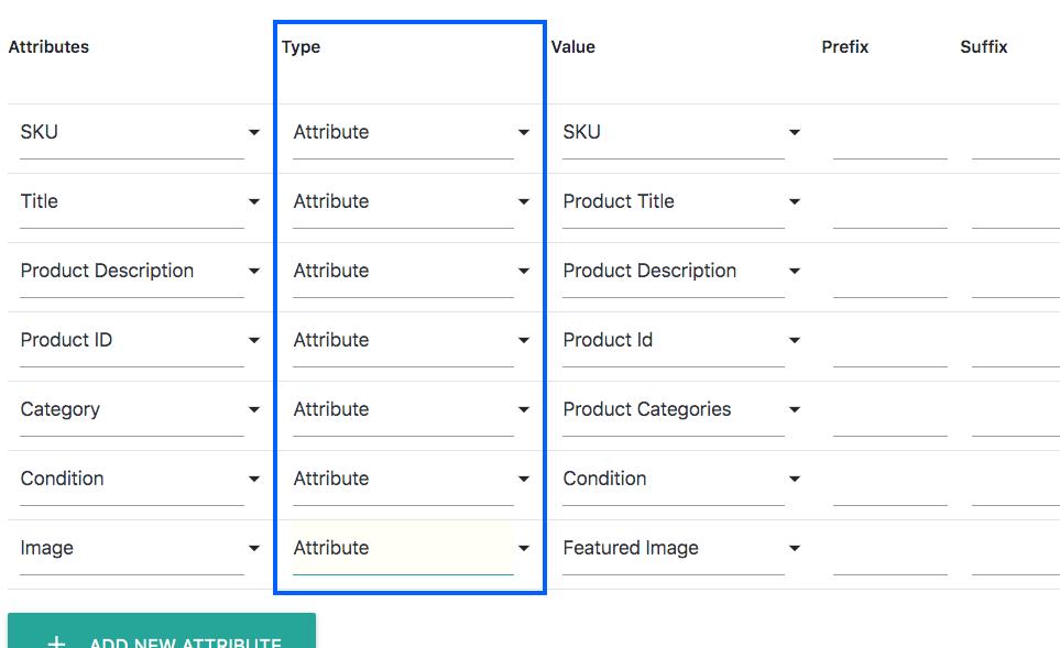eBay (MIP) Attribute Type