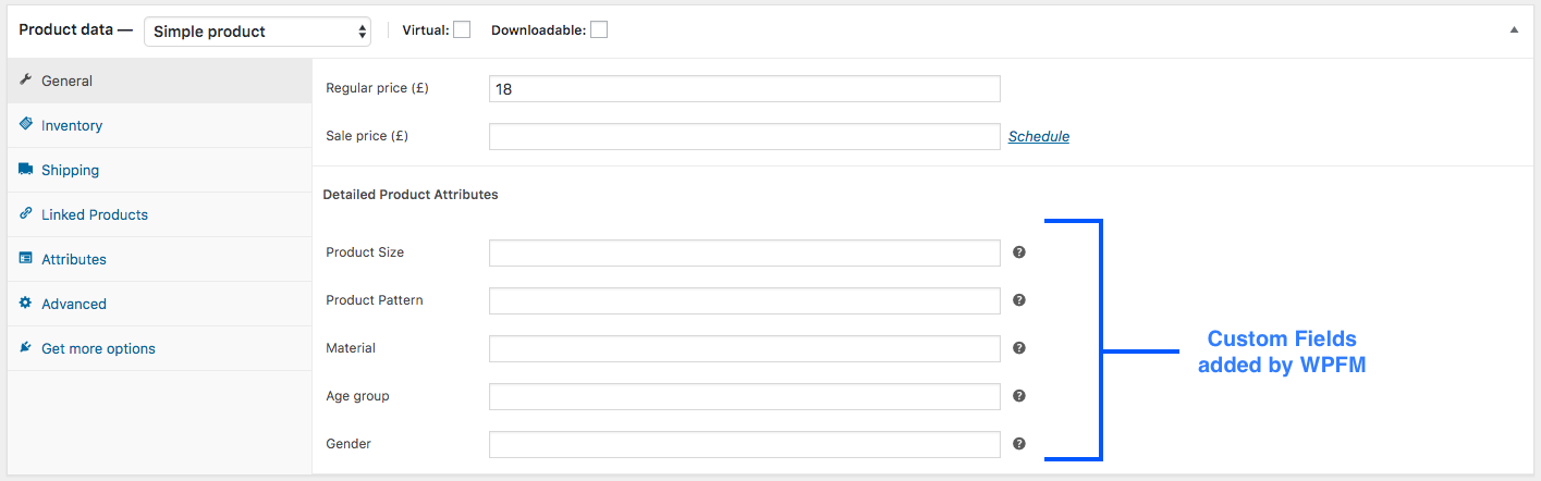 Single product Custom Attribute added
