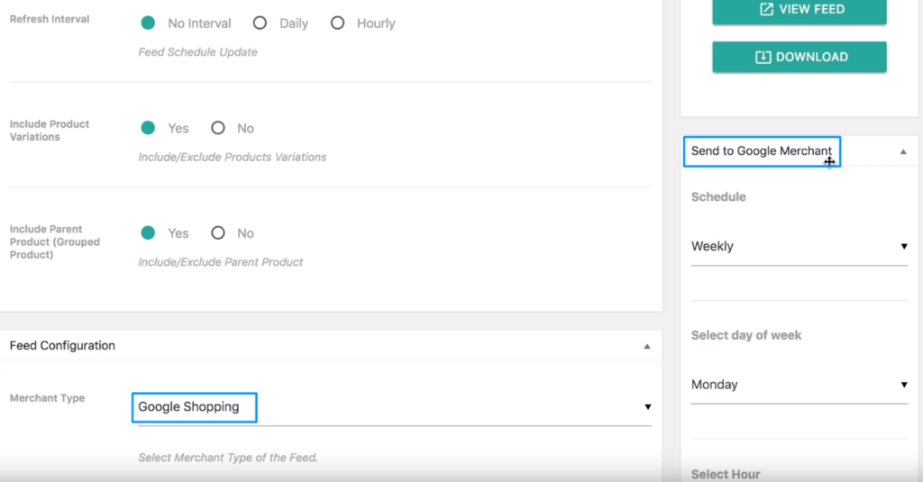 Send to WooCommerce Google Product Feed to Google