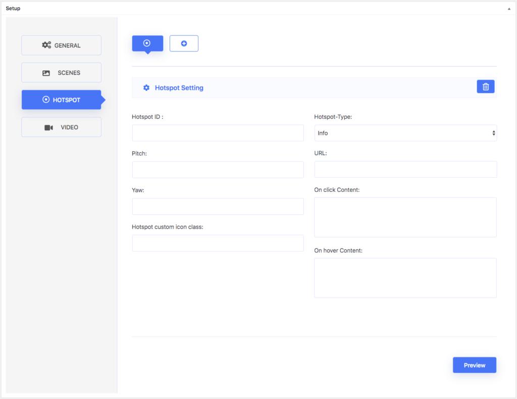 Hotspot settings - WPVR Free