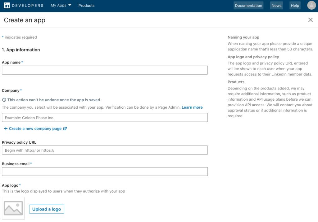 Create App Form