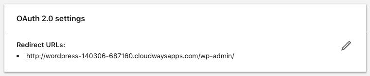 Redirect URL added
