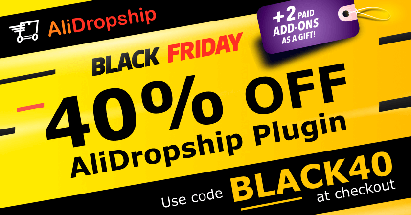 AliDropship Black Friday Banner