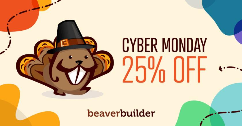 Beaver Builder Cyber Monday Banner