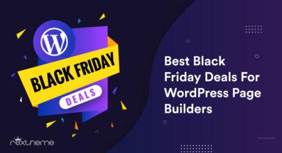 Schwarzer Freitag behandelt WordPress Page Builders