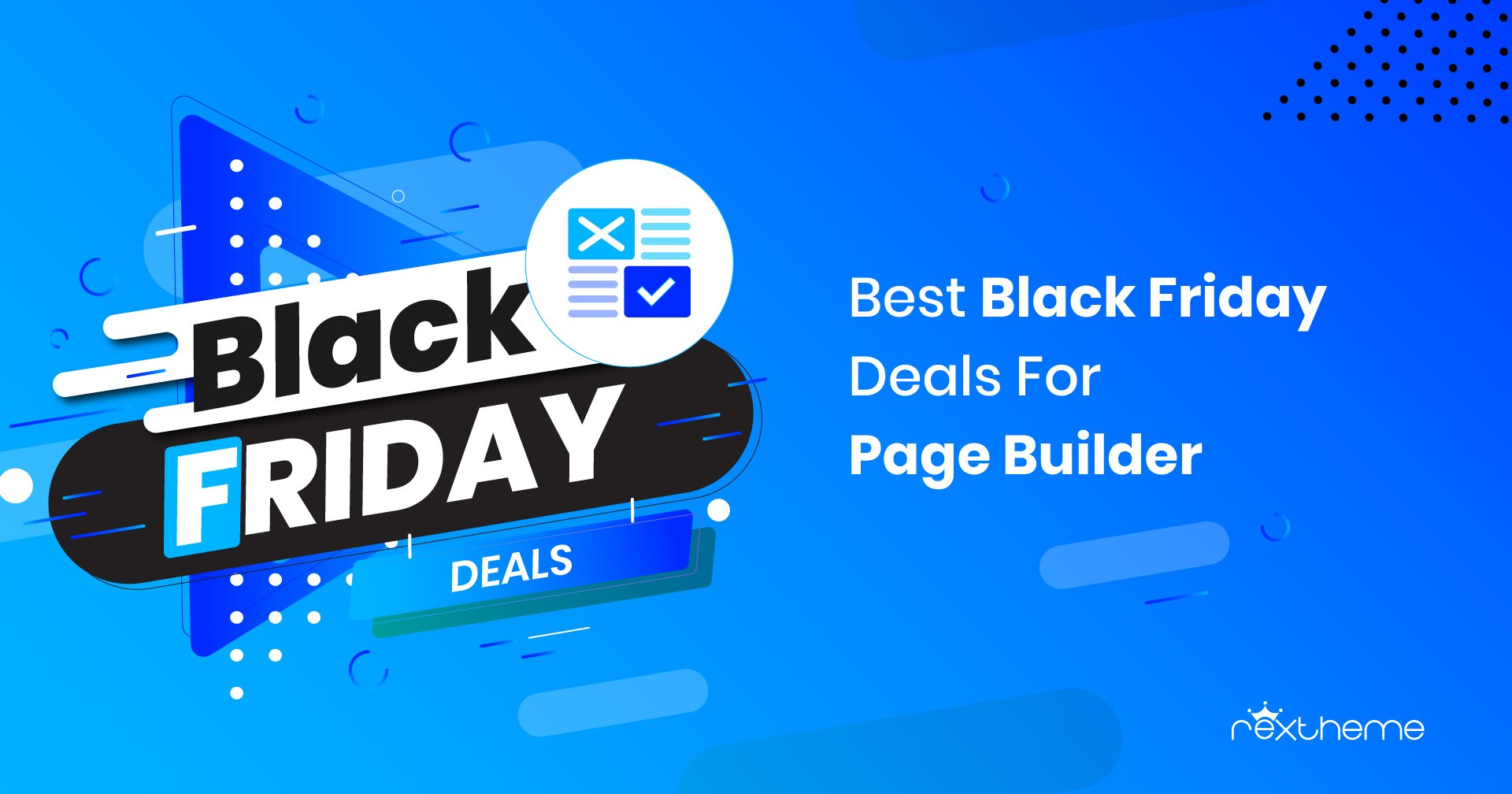 Black Friday Deals WordPress Page Builders