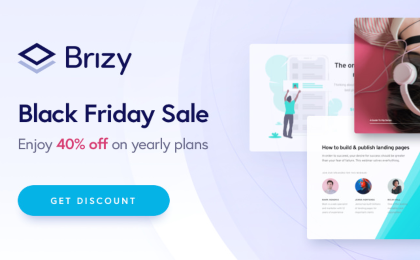 Brizy Black Friday Deals