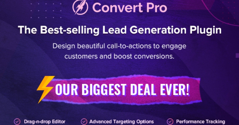 Convert Pro Black Friday Banner