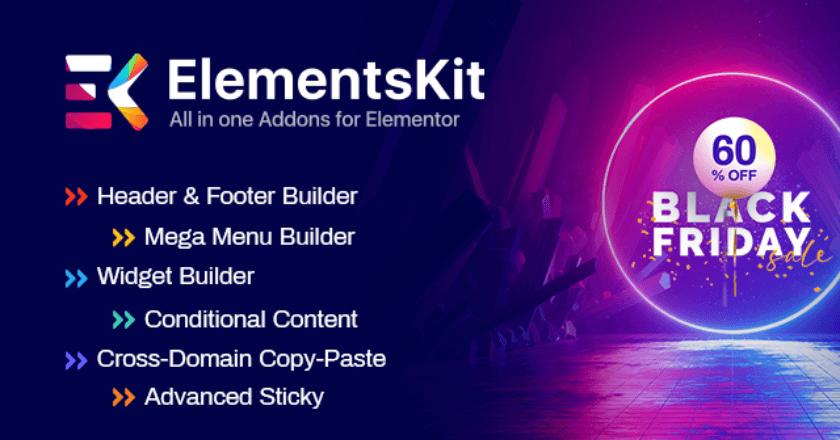 ElementsKit Black Friday banner