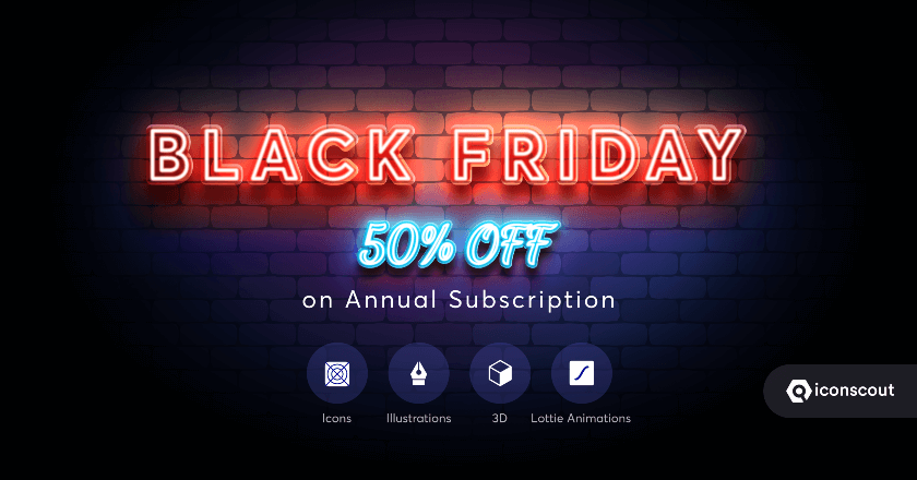 Iconscout Black Friday Banner