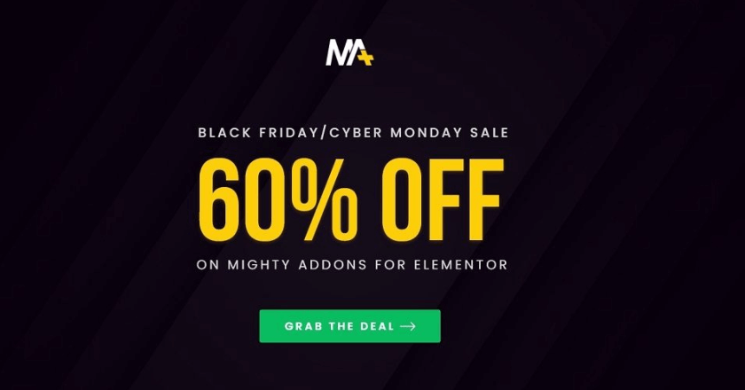 Mighty Addons Black Friday Banner