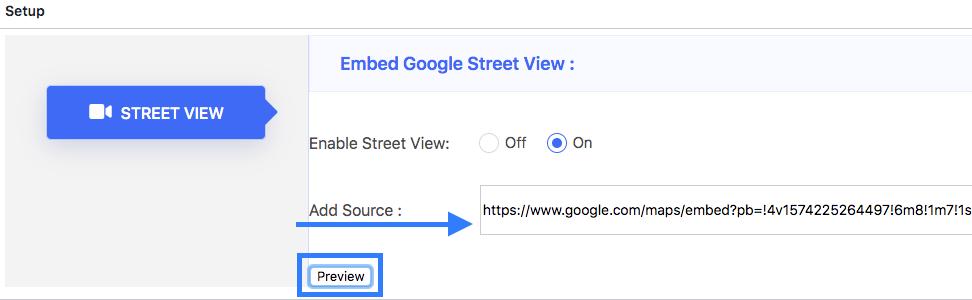 Embed Google Street View