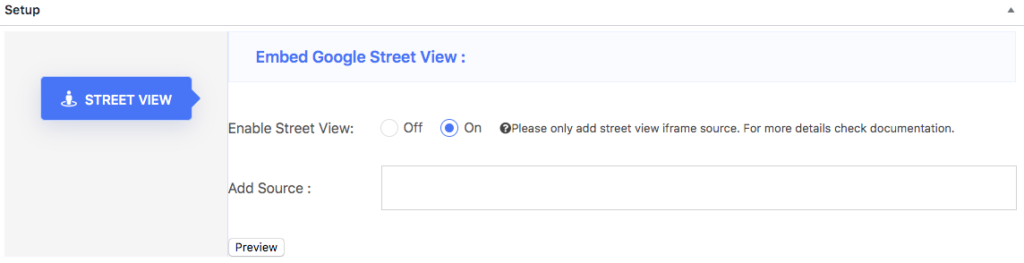 Enable Street View