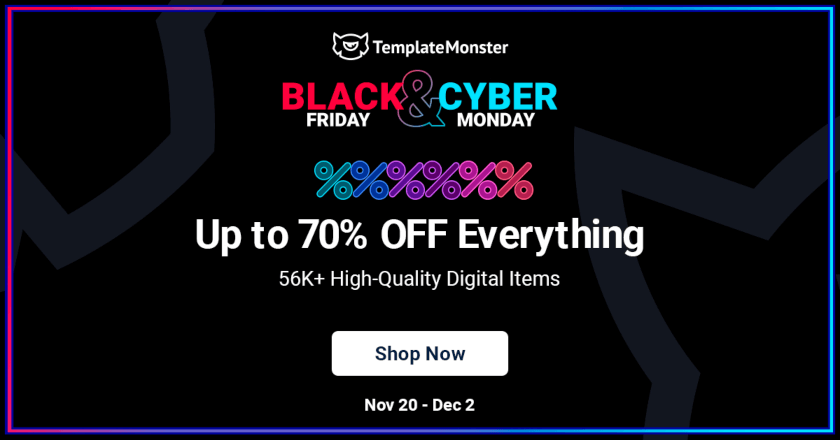 TemplateMonster Black Friday Deal
