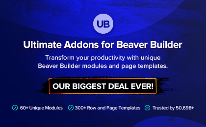 Ultimate Addons Beaver Builder Banner
