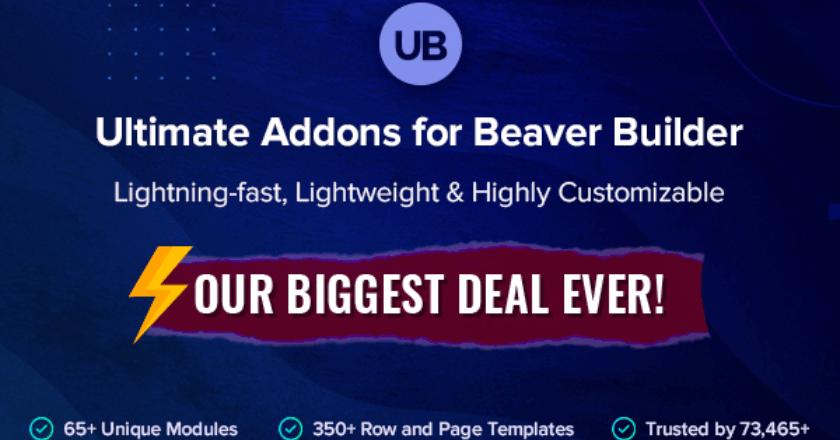 Ultimate Addons for Beaver Builder Black Friday Banner