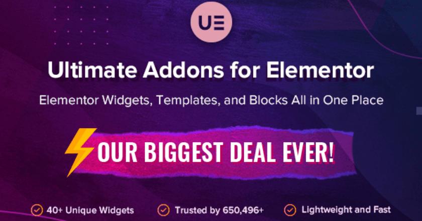Ultimate Addons for Elementor Black Friday banner