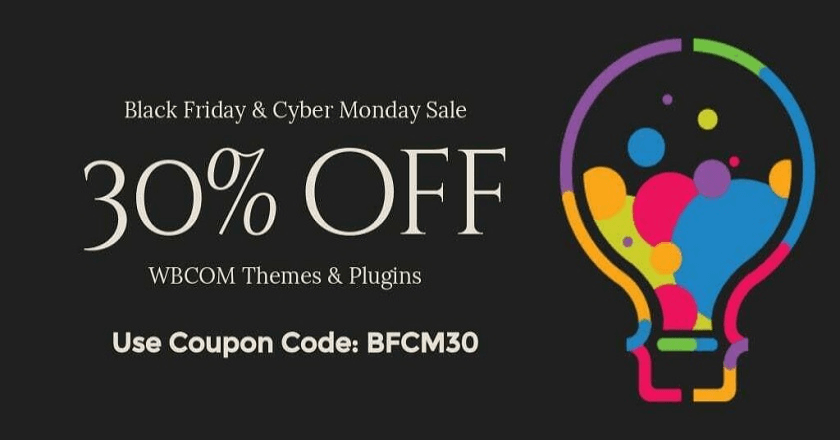 WBcom Designs Black Friday Banner