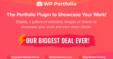 WP Portfolio Black Friday Deals