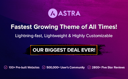 Astra Theme Banner