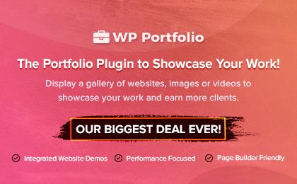 WP Portfolio Banner