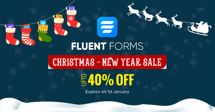 Fluent Forms Christmas Banner