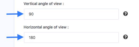 Setting the angle of views