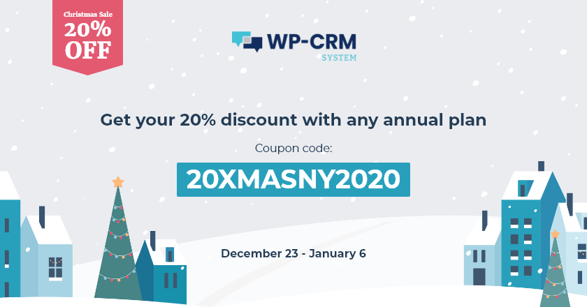 WP-CRM System Christmas Banner