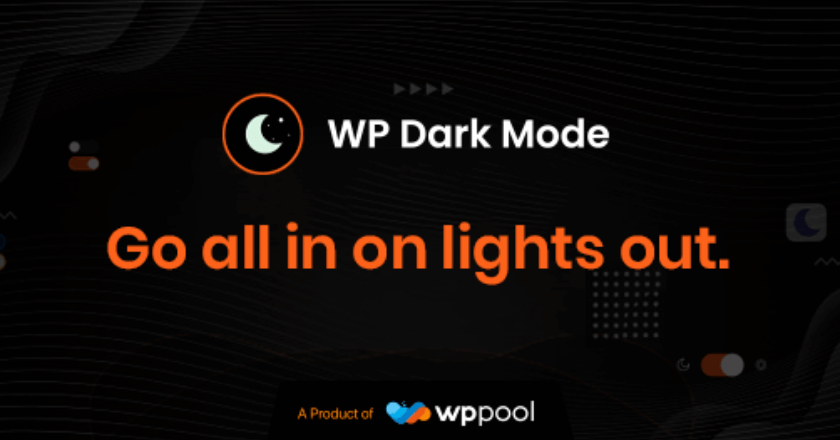 WP Dark Mode Christmas Banner