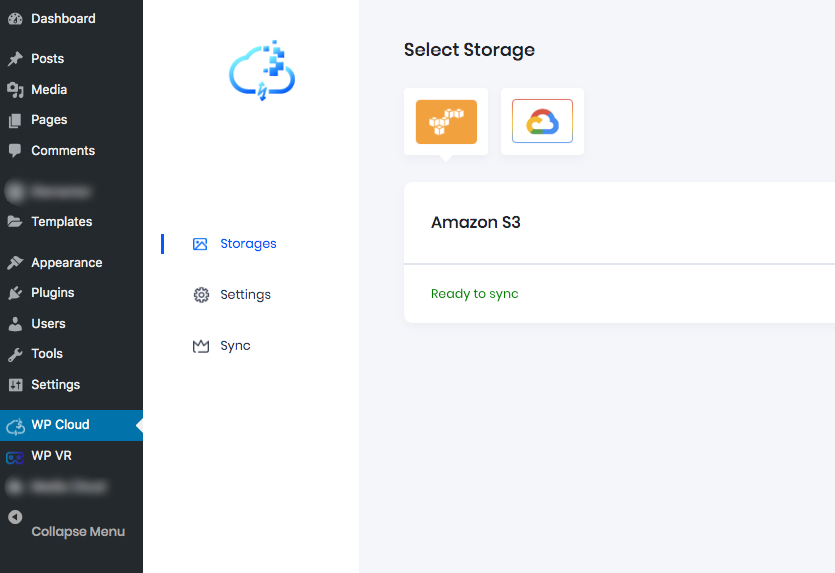Media To Cloud Storage Dashboard