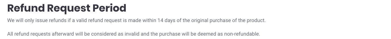 Refund request period