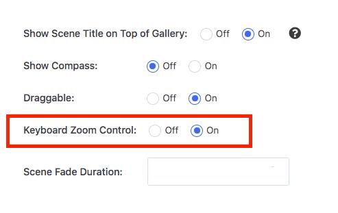 Turn On Keyboard Zoom Control on Virtual Tour