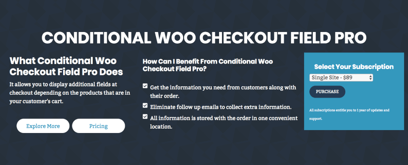 Conditional WooCommerce Checkout Field