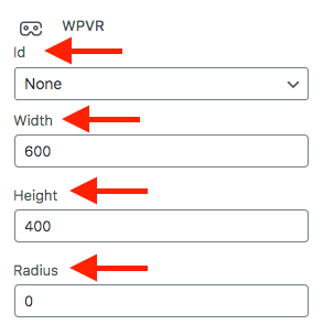 WPVR Block Options
