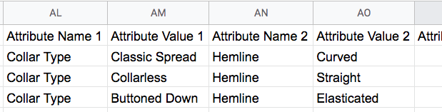 Custom Attribute Values