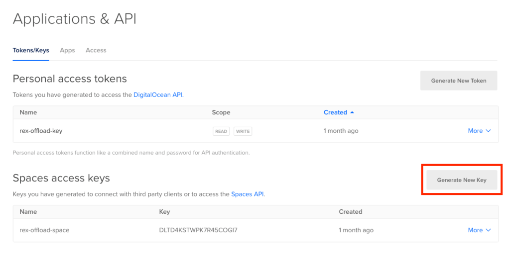 Application and API on DigitalOcean